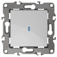 12-1102-01 ЭРА Выключатель с подсветкой, 10АХ-250В, Эра12, белый Б0014633