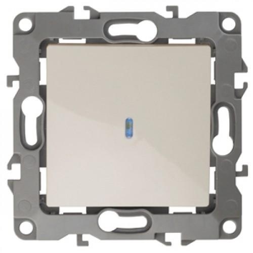12-1102-02  ЭРА Выключатель с подсветкой, 10АХ-250В, Эра12, слоновая кость Б0014634