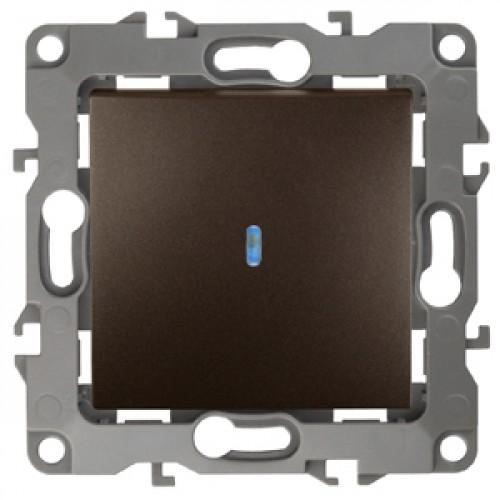 12-1102-13  ЭРА Выключатель с подсветкой, 10АХ-250В, Эра12, бронза Б0019281