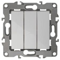 12-1107-01 ЭРА Выключатель тройной, 10АХ-250В, Эра12, белый Б0014669