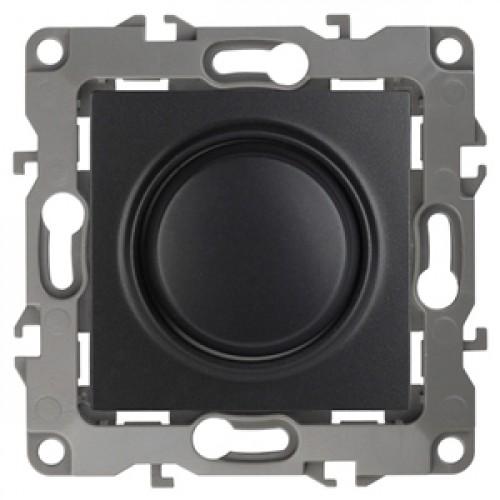 12-4101-05  ЭРА Светорегулятор поворотно-нажимной, 400ВА 230В, Эра12, антрацит Б0014739