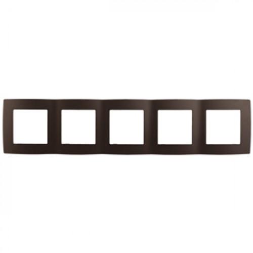 12-5005-13  ЭРА Рамка на 5 постов, Эра12, бронза Б0019383