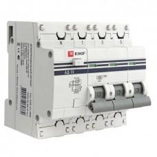 Дифференциальный автомат АД-32 3P+N 40А/30мА (хар. C, AC, электронный, защита 270В) 4,5кА EKF PROxima DA32-40-30-4P-pro