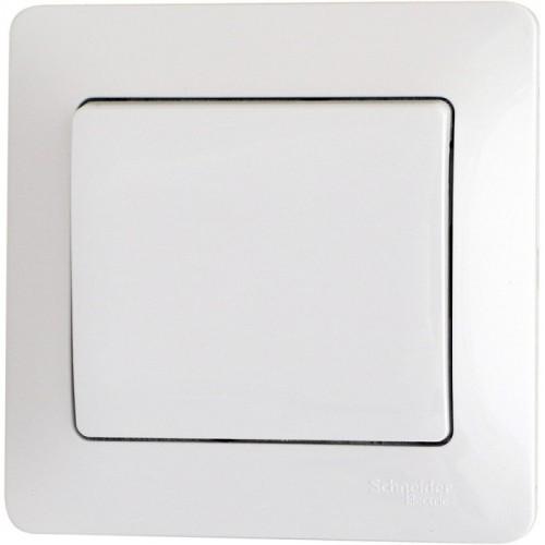 Glossa Бел Выключатель 1-клавишный, сх.1 (в сборе срамкой) GSL000112