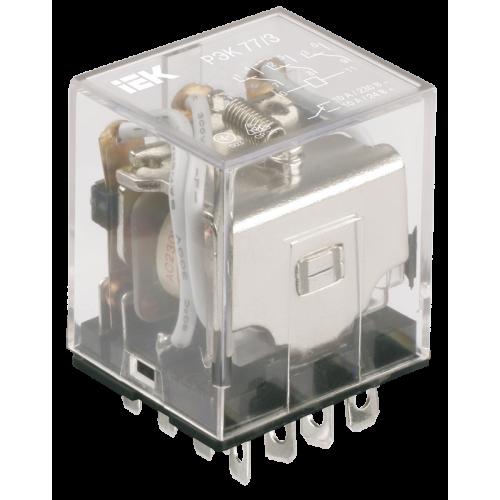 Реле РЭК77/4(LY4) с индикацией 10А 230В АC ИЭК RRP10-4-10-220A-LED