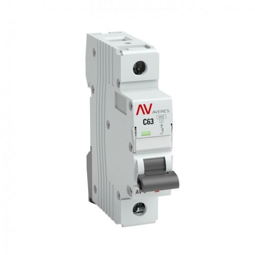 Выключатель автоматический AV-6 1P 10A (C) 6kA EKF AVERES mcb6-1-10C-av