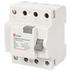 Устройство защитного отключения УЗО ВД-40 4P 40А/30мА (электронное) EKF Basic elcb-4-40-30e-sim