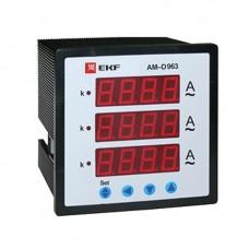 Амперметр AM-D723 цифровой на панель (72х72) трехфазный EKF PROxima am-d723