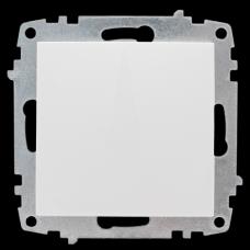 Милан Механизм выключателя 1-клавишный 10А белый без рамки EKF EMV10-021-10