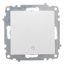 Милан Механизм выключателя проходного 1-клавишный 10А белый без рамки EKF EMV10-025-10