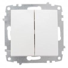 Милан Механизм выключателя 2-клавишный 10А белый без рамки EKF EMV10-023-10