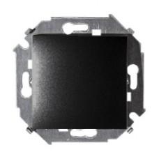 Одноклавишный выключатель, 16А, 250В, винт. зажим, графит 1591101-038