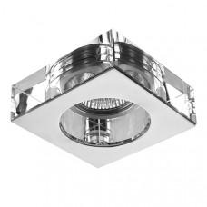 006124 Светильник LUI MR16/HP16 ХРОМ/ПРОЗРАЧНЫЙ (в комплекте), шт 006124