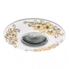 042102 Светильник CERAMO MR16/HP16 WHITE+GOLD (в комплекте), шт 042102