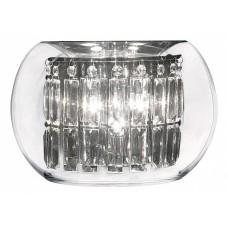 753634 (MB7603-3А) Бра ACQUARIO 3х20W G4 ХРОМ хрусталь+стекло (в комплекте), шт 753634