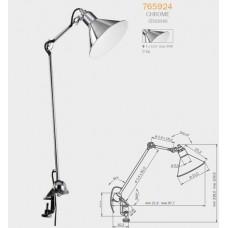 765924 (MТ1201802-1Е) Настольная лампа OFT 1х40W E14 ХРОМ (в комплекте), шт 765924