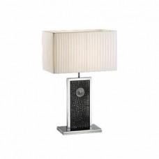 870937 (PD3088-BL) Настольная лампа FARAONE 1х60W E27 КОЖА/ЧЕРНЫЙ/ХРОМ (в комплекте), шт 870937
