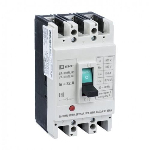 Автоматический выключатель ВА-99МL 63/32А 3P 15кА EKF mccb99-63-32mI