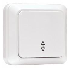 Рим Выключатель проходной 1-клавишный 10А белый EKF ENV10-025-10