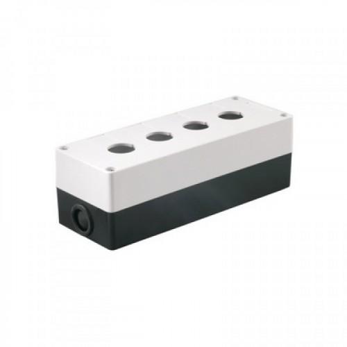 Корпус КП104 для кнопок 4места белый ИЭК BKP10-4-K01