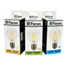 Лампа светодиодная LB-56  (5W) 230V E27 6400K филамент 25545