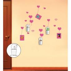 NL92 наклейка на стену с аксессуарами (стаканчики) 23329