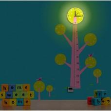 NL74 8*0,5W LEDs 5730smd светильник-часы с USB-проводом (5V адаптер в комплект не входит) 1*AA бат 23286
