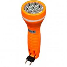 TL040 аккумуляторный фонарь ручной 7LED 0,6W 230V/50Hz, оранжевый, 226*45*45мм 12955