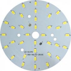 LB-1766, светодиодный модуль на алюм.плате, 18W 36LED SMD5730 990Lm 300mA 6400K D100mm 27992