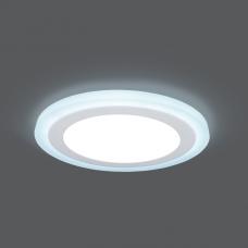 BL117 Светильник Gauss Backlight Кругл. Акрил, 6+3W, LED 4000K, O145, 1/40 BL117