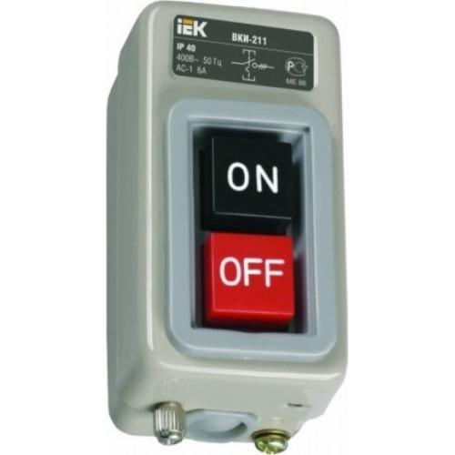 Выключатель ВКИ-211 3Р  6А 230/400В IP40  ИЭК KVK10-06-3
