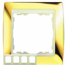 Рамка декоративная, 1 пост, S82, золото-слоновая кость 82714-66