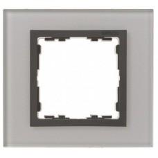 Рамка декоративная, 1 пост, S82 Nature, Стекло, серый-графит 82817-35