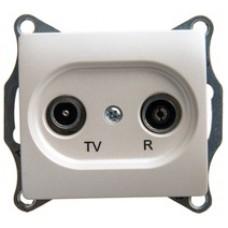 SE Glossa TV-R розетка проходная 4DB, механизм, перламутр SE GSL000695
