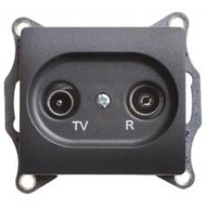 SE Glossa TV-R розетка проходная 4DB, механизм,антрацит SE GSL000795