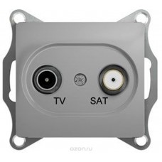 Glossa Алюминий TV-SAT Розетка одиночная 1DB GSL000397
