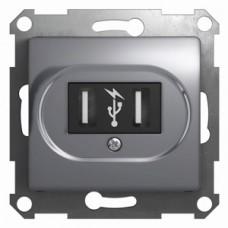 Glossa Алюминий USB Розетка GSL000332