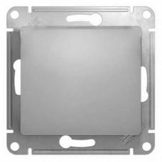 Glossa Алюминий Выключатель 1-клавишный, сх.1 (в сборе с рамкой) GSL000312