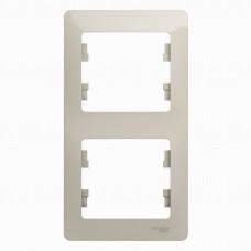 SE Glossa Молочный Рамка 2-ая, вертикальная SE GSL000906