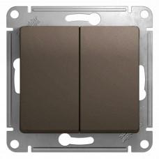 SE Glossa Шоколад Мех Выключатель 2-клавишный, сх.5, 10АХ SE GSL000851