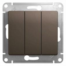 Glossa Шоколад Мех Выключатель 3-клавишный сх.3, 10AX GSL000831