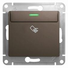 SE Glossa Шоколад Мех Выключатель карточный, сх.6 SE GSL000869