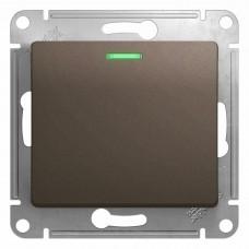 SE Glossa Шоколад Мех Переключатель 1-клавишный с подсветкой сх.6а, 10АХ SE GSL000863