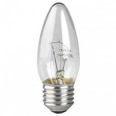 Лампа ЭРА ДС (B35) 60Вт 230V E27 свечка, прозр. в цветной гофре Б0017699