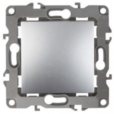 12-1101-03 ЭРА Выключатель, 10АХ-250В, Эра12, алюминий (10/100/3200) Б0014623