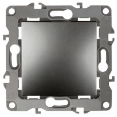 12-1101-12 ЭРА Выключатель, 10АХ-250В, Эра12, графит (10/100/2500) Б0019276