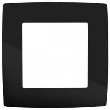 12-5001-06 ЭРА Рамка на 1 пост, Эра12, чёрный (20/200/5000) Б0014746
