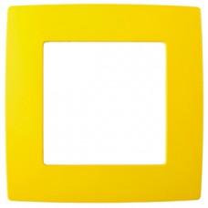 12-5001-21 ЭРА Рамка на 1 пост, Эра12, жёлтый (20/200/5000) Б0019386
