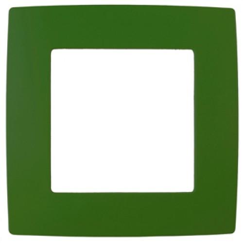 12-5001-27 ЭРА Рамка на 1 пост, Эра12, зелёный (20/200/5000) Б0019392