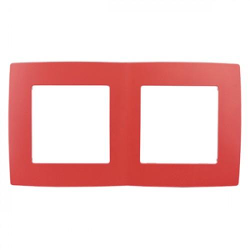 12-5002-23 ЭРА Рамка на 2 поста, Эра12, красный (10/100/2500) Б0019397